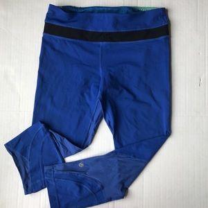 Lululemon Pace Rival Crops Blue size 6 leggings